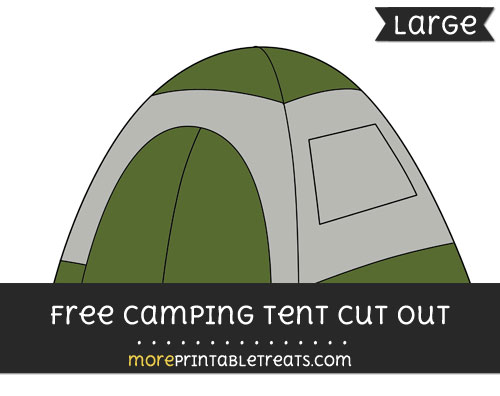 Free Camping Tent Cut Out - Large size printable