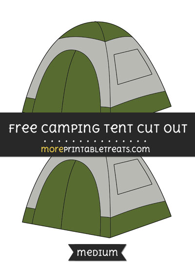 Free Camping Tent Cut Out - Medium Size Printable