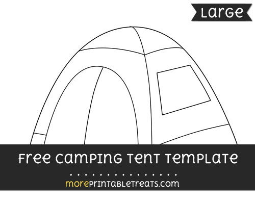 Free Camping Tent Template - Large
