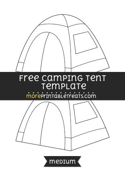Free Camping Tent Template - Medium