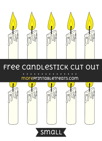Free Candlestick Cut Out - Small Size Printable