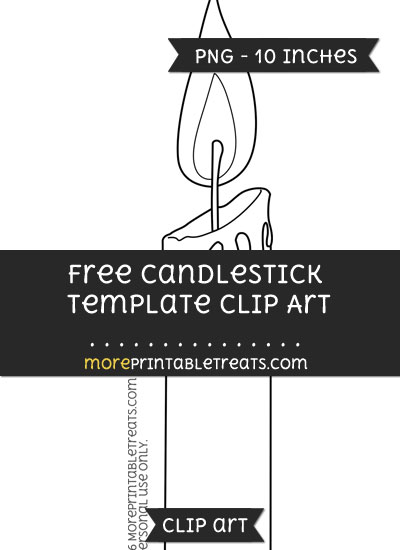 Free Candlestick Template - Clipart