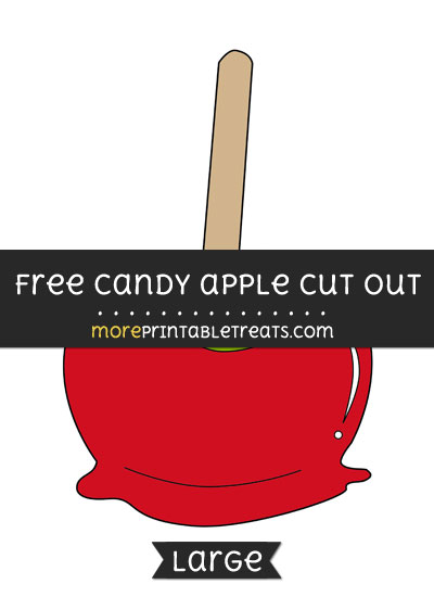 Free Candy Apple Cut Out - Large size printable