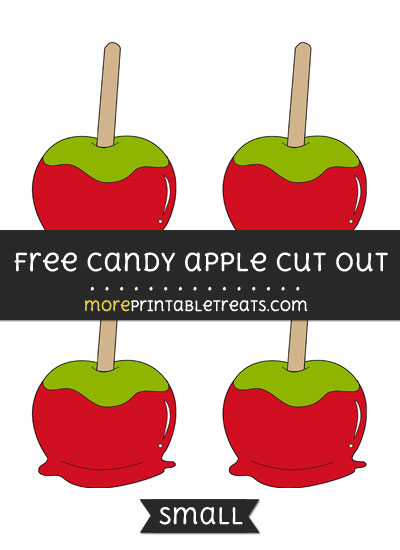 Free Candy Apple Cut Out - Small Size Printable