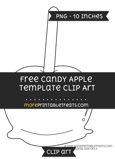 Free Candy Apple Template - Clipart