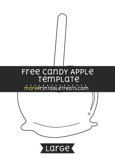 Free Candy Apple Template - Large