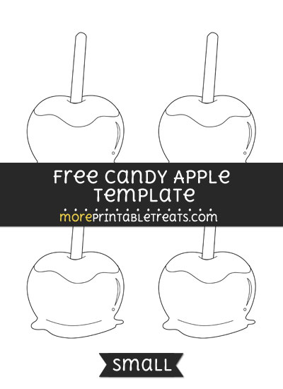 Free Candy Apple Template - Small