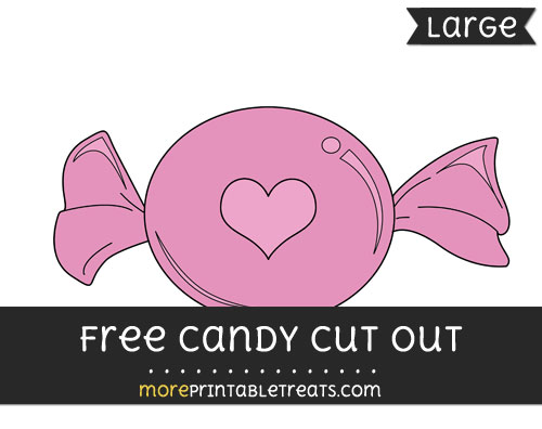 Free Candy Cut Out - Large size printable