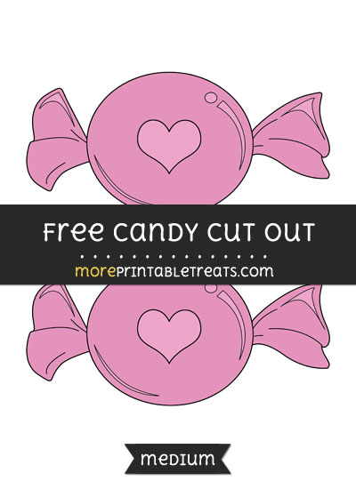 Free Candy Cut Out - Medium Size Printable
