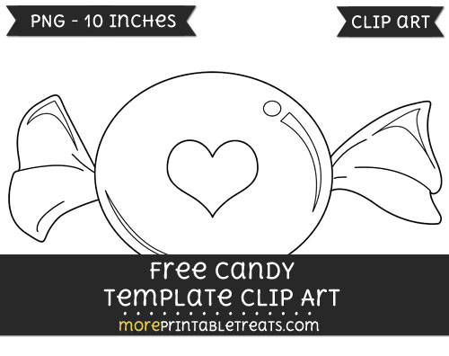 Free Candy Template - Clipart