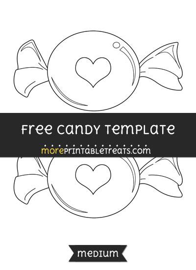 Free Candy Template - Medium