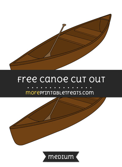 Free Canoe Cut Out - Medium Size Printable