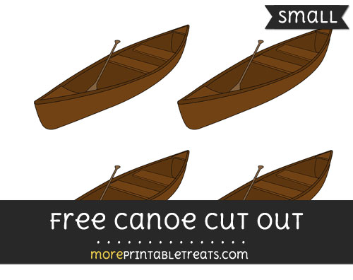 Free Canoe Cut Out - Small Size Printable