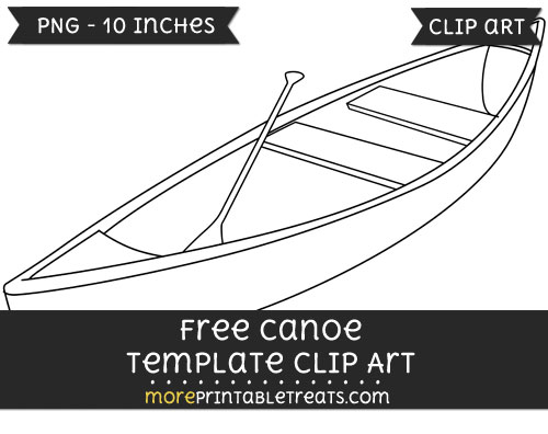 Free Canoe Template - Clipart