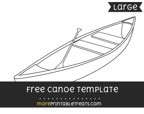 Free Canoe Template - Large