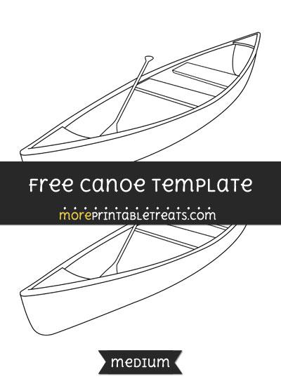 Free Canoe Template - Medium