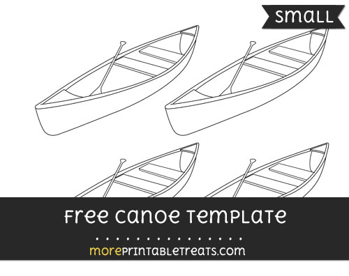 Free Canoe Template - Small