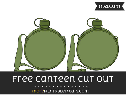 Free Canteen Cut Out - Medium Size Printable