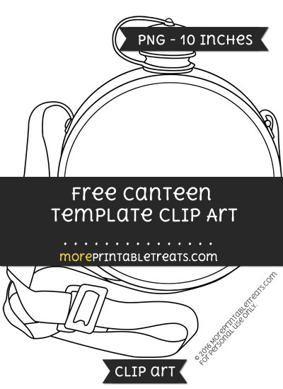Free Canteen Template - Clipart