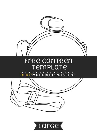 Free Canteen Template - Large