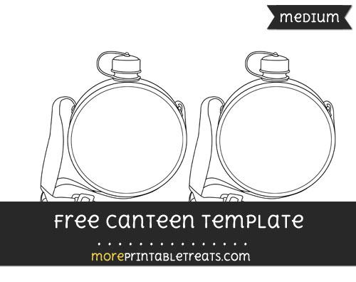 Free Canteen Template - Medium