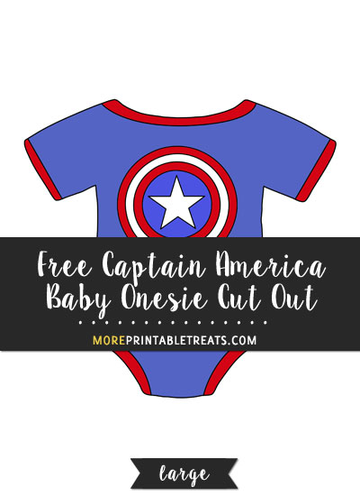 Free Captain America Baby Onesie Cut Out - Large