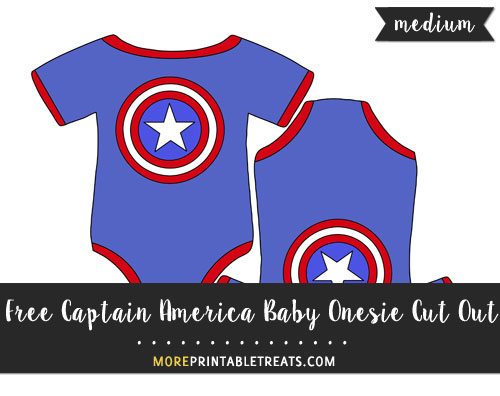 Free Captain America Baby Onesie Cut Out - Medium