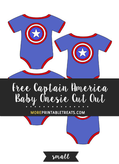 Free Captain America Baby Onesie Cut Out - Small