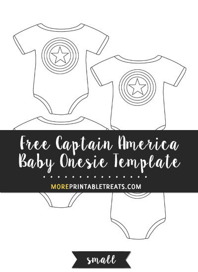 Free Captain America Baby Onesie Template - Small Size