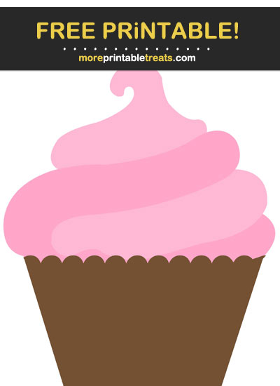 Free Printable Carnation Pink Cupcake Cut Out