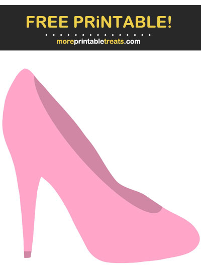 Free Printable Carnation Pink Ladie's Right Stiletto Cut Out
