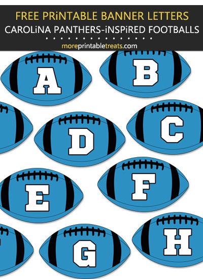 Free Printable Carolina Panthers-Inspired Football Alphabet