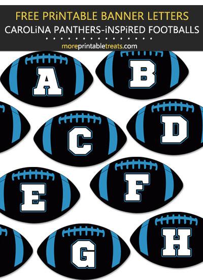 Free Printable Carolina Panthers-Inspired Football Bunting Banner