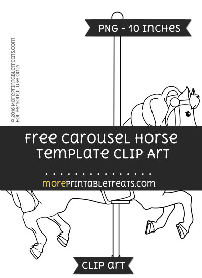 Free Carousel Horse Template - Clipart