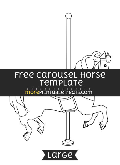 Free Carousel Horse Template - Large