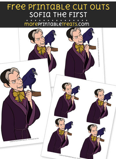 Free Cartoon Cedric Wormwood from Sofia the First Cut Outs - Printable