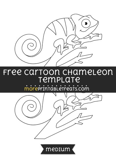 Free Cartoon Chameleon Template - Medium