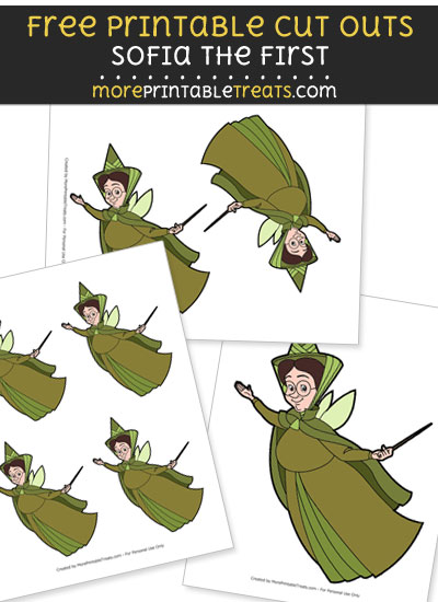 Free Cartoon Fauna the Good Fairy from Sofia the First Cut Outs - Printable