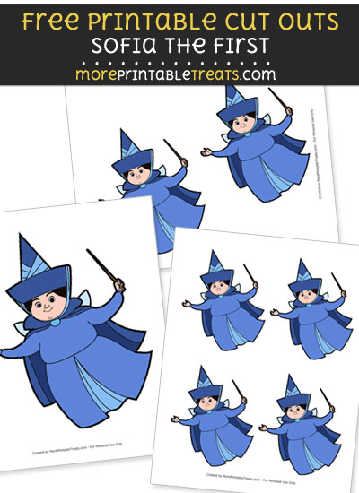 Free Cartoon Merryweather the Good Fairy Cut Outs - Printable - Sofia the First