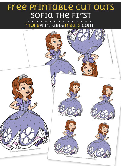 Free Cartoon Sofia the First Running Cut Outs - Printable - Sofia the First