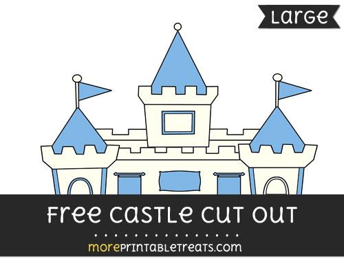 Free Castle Cut Out - Large size printable