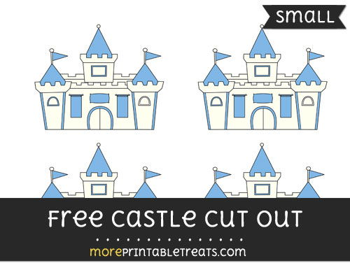Free Castle Cut Out - Small Size Printable