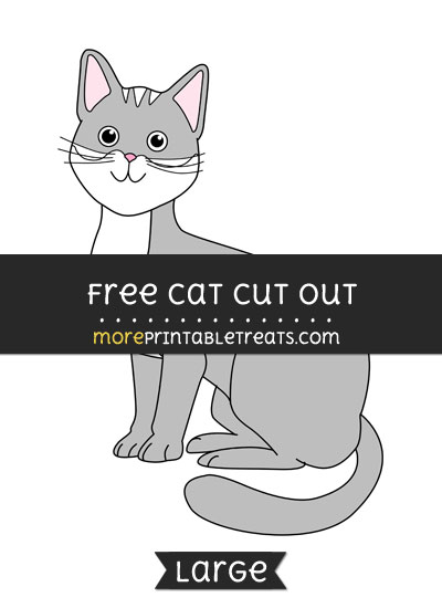 Free Cat Cut Out - Large size printable