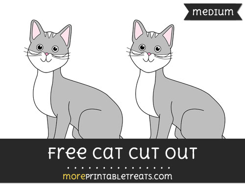 Free Cat Cut Out - Medium Size Printable
