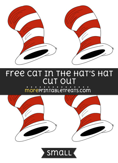 Free Cat In The Hats Hat Cut Out - Small Size Printable