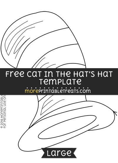 Free Cat In The Hats Hat Template - Large