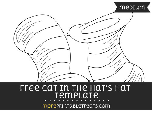 Free Cat In The Hats Hat Template - Medium