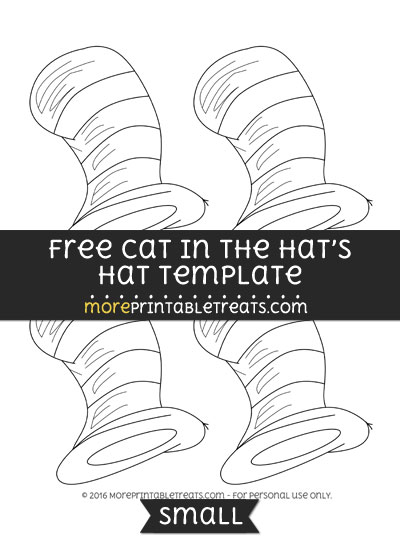 Free Cat In The Hats Hat Template - Small