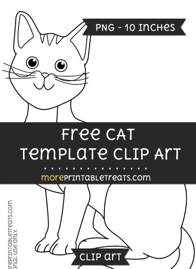 Free Cat Template - Clipart