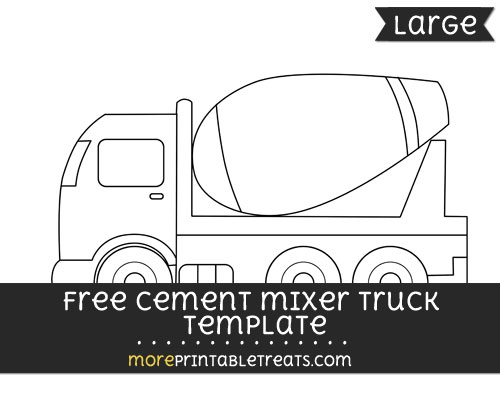 Free Cement Mixer Truck Template - Large
